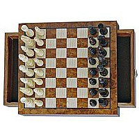 Travel Walnut Wood Chess Set