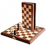 We Games Travel Wood Magnetic Chess Set 11""