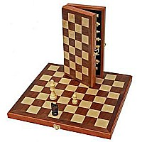 "We Games 11"" Wood Folding Chess Set"