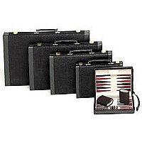Magnetic Black Suede Backgammon Set 9""