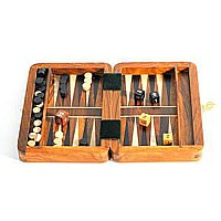Wood Travel Backgammon Set 6""