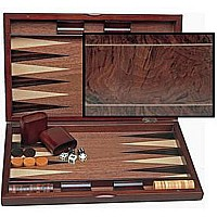 Wood Inlay Backgammon 19""