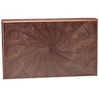 Wood Pinwheel Backgammon 19""