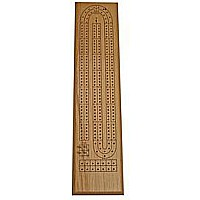 2-track Solid Oak Cribbage