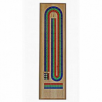 We Games 3 Track Wood Red, Blue, and Green Cribbage
