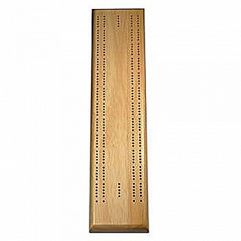 Solid Wood 2 Track Competition Cribbage Board