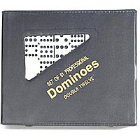 Double 12 Dominoes Ivory-color Tiles With Black Dots
