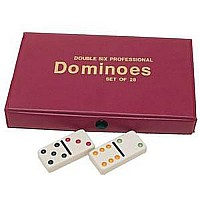 Double 6 Dominoes Ivory-color Tiles With Assorted Color Dots