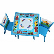Wildkin Trains, Planes, Trucks Table & Chair Set