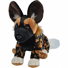 African Wild Dog Stuffed Animal - 12""