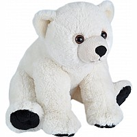 Baby Polar Bear Stuffed Animal - 12""