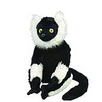 Black & White Lemur Stuffed Animal - 12""