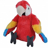 Macaw Scarlet Stuffed Animal - 12""