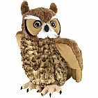 Great Horned Owl Stuffed Animal - 12""