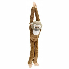 Hanging Squirrel Monkey Stuffed Animal - 20""