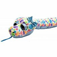 Colorful Polka Dot Snake Stuffed Animal - 54""