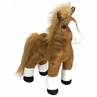 "Brown Standing Horse Stuffed Animal - 12"" Class"