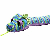 "Colorful Stripe Snake Stuffed Animal - 54"" Class"