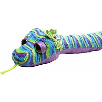 "54"" Plush Snakesss - Purple, Blue, Green with Bow"