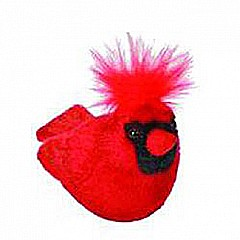 Audubon II Northern Cardinal Stuffed Animal - 5""