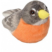 Audubon II American Robin Stuffed Animal - 5""