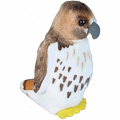 Audubon II Red-tailed Hawk Stuffed Animal with Sound - 5""