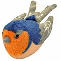 Audubon II Barn Swallow Stuffed Animal with Sound - 5""