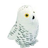 Audubon II Snowy Owl Stuffed Animal with Sound - 5""