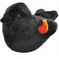 Audubon II Red-winged Blackbird Stuffed Animal with Sound - 5""