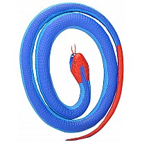 Blue Coral Rubber Snake - 42""