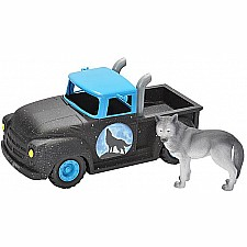 Adventure Series Hot Rod Truck and Wolf