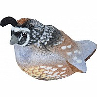 Audubon II - California Quail Stuffed Animal with Sound - 5""