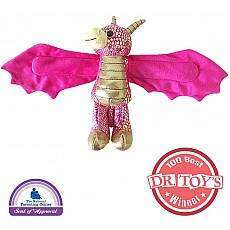 Huggers Golden Dragon Stuffed Animal - 8""
