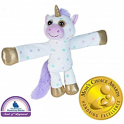 Huggers Polka Dot Unicorn Stuffed Animal - 8""