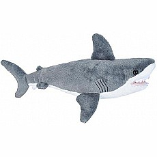 Great White Shark Stuffed Animal - 8""