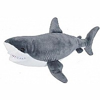 Great White Shark Stuffed Animal - 15""