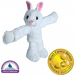Huggers White Bunny Stuffed Animal- 8""