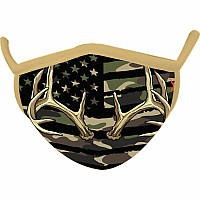 Camo Wild Smiles Adults Face Mask