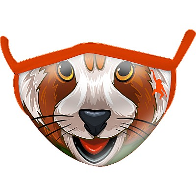 Red Panda Wild Smiles Childs Face Mask