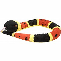 Coral Snake Stuffed Animal - 54""