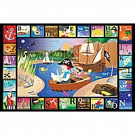 ABC Pirate Cove Kids Jigsaw Puzzle-White Mountain Puzzles