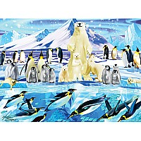 Penguin Plunge Children's Jigsaw Puzzle -100 PC- White Mountain Puzzles
