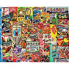 Penny Candy Puzzle-550 Pieces -White Mountain Puzzles