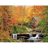 Old Grist Mill Landscape Jigsaw Puzzle-White Mountain Puzzles