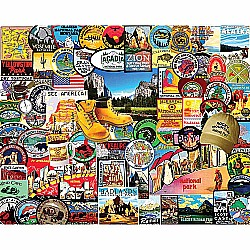 1000pc Puzzle - National Park Badges
