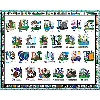 A B C Floor - 24piece puzzle - White Mountain Puzzles