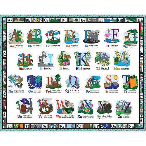A B C Floor - 24piece puzzle - White Mountain Puzzles - Frames Games ...