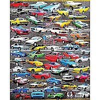 50 Years of Mustangs - 550 Piece Puzzle - White Mountain Puzzles
