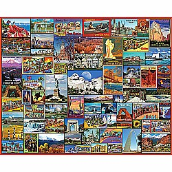 1000pc Puzzle - Best Places in America