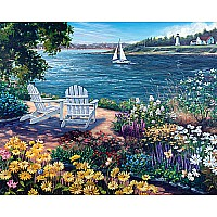 Garden by the Bay Jigsaw Puzzle-White Mountain Puzzles